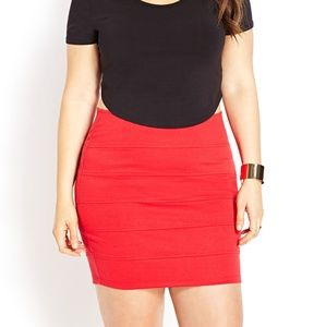 Forever 21 Red Bandage Skirt